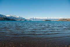 Lago General Carrera, Carretera Austral, Landstraße 7, Chile Lizenzfreie Stockbilder
