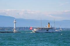 Lago geneva della nave a vapore di Savoia Fotografie Stock Libere da Diritti