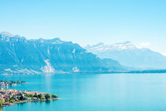 Lago geneva em Switzerland Foto de Stock Royalty Free