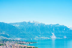 Lago geneva em Switzerland Fotografia de Stock Royalty Free