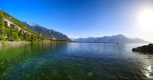 Lago geneva in Svizzera Fotografia Stock Libera da Diritti