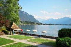 Lago geneva, Svizzera Immagine Stock Libera da Diritti