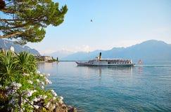Lago geneva, Svizzera Immagini Stock Libere da Diritti