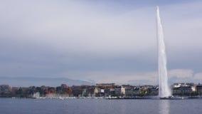 Lago geneva y d'Eau del jet almacen de metraje de vídeo