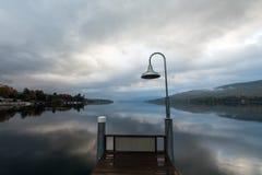 Lago George ad alba Immagine Stock