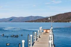 Lago George Winter Fotografie Stock Libere da Diritti