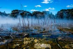 Lago geotérmico del parque de Kuirau fotos de archivo