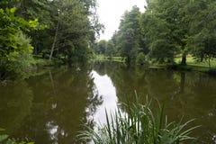 Lago Germania del parco della città di Furpach Immagini Stock Libere da Diritti