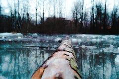 Lago ghiacciato Fotografia Stock