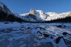 Lago ghiacciato della montagna Fotografia Stock Libera da Diritti