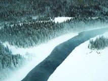 Lago ghiacciato Kanas nell'inverno Immagini Stock Libere da Diritti