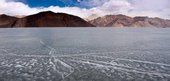 Lago ghiacciato Pangong, Ladakh, Kashmir Immagine Stock