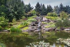 Lago giapponese a Grand Rapids, Michigan, Stati Uniti Fotografie Stock Libere da Diritti