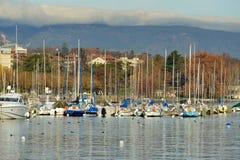 Lago Ginevra Fotografie Stock Libere da Diritti