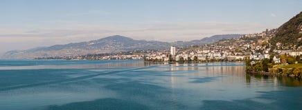 Lago Ginevra nel Montruex Fotografie Stock