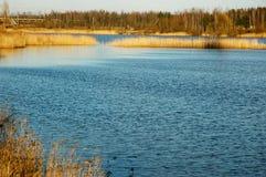 Lago in giorno del sole Immagini Stock