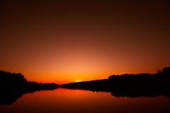 Lago Giulianello Italia Fotografía de archivo