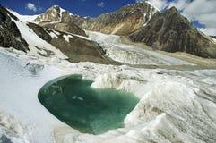 Lago glacial de la turquesa hermosa. Imágenes de archivo libres de regalías
