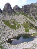 Lago glacial en Retezat imagen de archivo libre de regalías