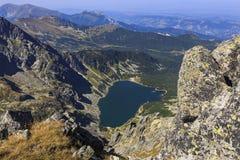 Lago glacial hermoso en las montañas de Tatra fotografía de archivo libre de regalías