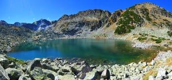 Lago Glacial nas montanhas de Rila, Bulgária Foto de Stock Royalty Free