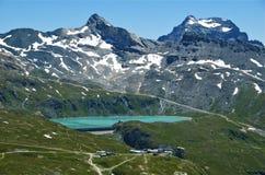 Lago glacier nella valle d'Aosta Fotografia Stock Libera da Diritti