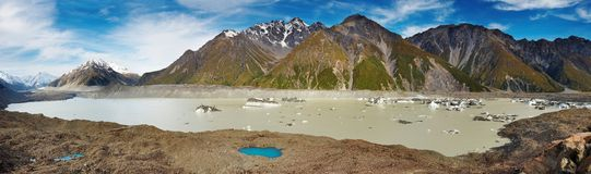 Lago glacier, Nuova Zelanda Fotografia Stock