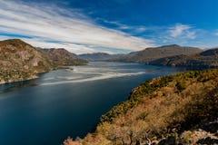 Lago glacier San Martin de Los Andes - in Argentina Immagini Stock