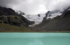 Lago Gletsjer Switserland il moiry Fotografie Stock Libere da Diritti
