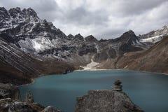 Lago Gokyo imagens de stock