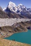 Lago Gokyo em Nepal Imagem de Stock