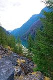 Lago gorge, parque nacional das cascatas nortes fotos de stock royalty free