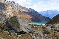 Lago Goscheneralp Fotos de Stock Royalty Free