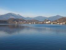 Lago grande, Avigliana Imagen de archivo libre de regalías