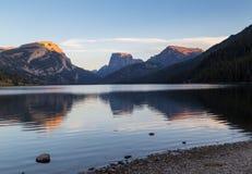 Lago green River Fotografia Stock