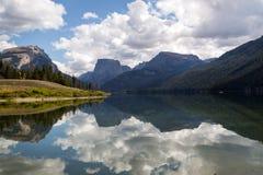 Lago green River Fotografia Stock Libera da Diritti