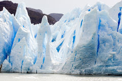 Scarp Grey Glacier, colorful ice on spiky escarpment, Chile royalty free stock images