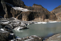 Lago Grinnell no parque nacional EUA de geleira imagens de stock royalty free