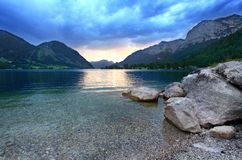 Lago Grundlsee. fotografia de stock royalty free