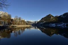 Lago Grundlsee in Stiria, Austria Immagini Stock Libere da Diritti