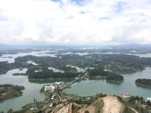 Lago Guatape imagen de archivo libre de regalías