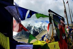 Lago Gurudongmar, Sikkim del nord, India Immagini Stock Libere da Diritti