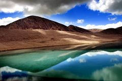 Lago Gurudongmar, Sikkim del norte, la India Imagen de archivo