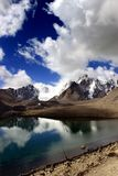 Lago Gurudongmar, Sikkim del norte, la India Imagen de archivo libre de regalías