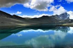 Lago Gurudongmar, Sikkim norte, Índia Imagens de Stock