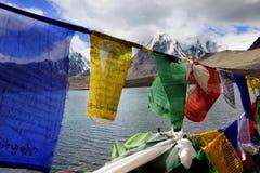 Lago Gurudongmar, Sikkim norte, Índia Fotografia de Stock