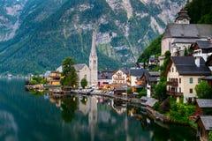 Lago Hallstatt, Austria Fotografie Stock
