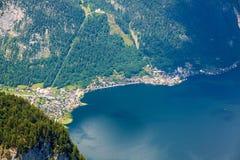 Lago Hallstatt - vista de Dachstein Fotografia de Stock