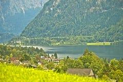 Lago Hallstatter, Áustria Fotos de Stock