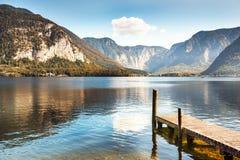Lago Hallstatter in alpi austriache Fotografia Stock Libera da Diritti